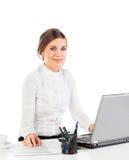 Przy pracą ładna sekretarka zdjęcia stock