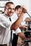 Przy pracą kawowy barista Obraz Royalty Free