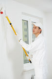 Przy pracą domowy malarz Zdjęcia Royalty Free