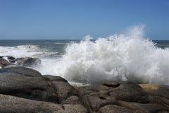 Przy Punta wybrzeże Del Diablo Fotografia Royalty Free
