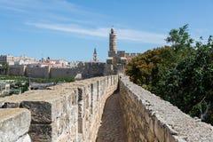 Przy Ramparts spacerem w Jerozolima zdjęcia royalty free