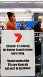 Przy Smith lotniskiem międzynarodowym, Sydney, Australia zdjęcia stock