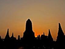 przy starą świątynią Ayuthaya Tajlandia Obrazy Stock