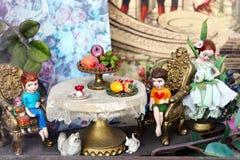 Przy stołem Fotografia Royalty Free