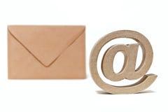 Przy symbolem. Email. Skrzynka pocztowa Zdjęcia Royalty Free