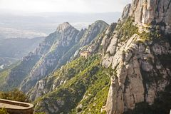 Przy szczytem Montserrat obrazy royalty free