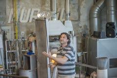 Przy szklaną fabryką w Murano royalty ilustracja
