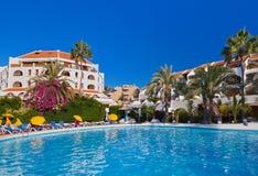 Przy Tenerife wyspą wodny basen Obrazy Royalty Free