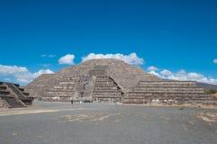 Przy Teotihuacan Słońce Ostrosłup Zdjęcie Royalty Free