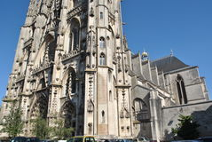 Przy Toul St. Katedra Etienne, Francja Obraz Royalty Free