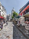 Przy ulicami Montmartre Fotografia Stock