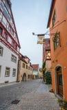 Przy ulicami Nordlingen Fotografia Royalty Free