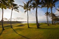 Przy wschód słońca Beatufiul dziura tropikalna nabrzeżna golfowa fotografia royalty free