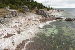 Przy wybrzeżem Gotland, Szwecja Zdjęcie Stock