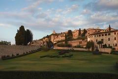 Przy zmierzchem Assisi wioska Obraz Royalty Free
