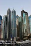 Przy zmierzchem Dubaj Marina. Zdjęcia Royalty Free