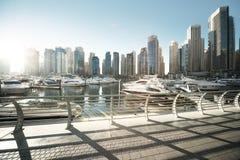 Przy zmierzchem Dubaj Marina Obraz Royalty Free