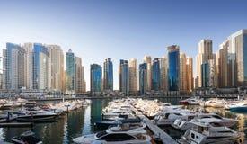 Przy zmierzchem Dubaj Marina Zdjęcia Royalty Free
