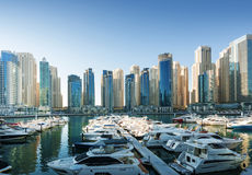 Przy zmierzchem Dubaj Marina Obraz Stock