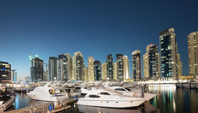 Przy zmierzchem Dubaj Marina Fotografia Royalty Free