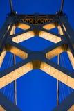 Przy Zmierzchem Mosta podpalany Wierza Zdjęcia Royalty Free