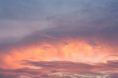 Przy zmierzchem piękny niebo Zdjęcie Stock