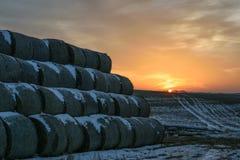 Przy zmierzchem zima krajobraz Fotografia Stock