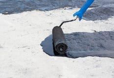 Przybierania betonowy screed fotografia royalty free