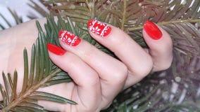 Przybija sztuka manicure fotografia stock