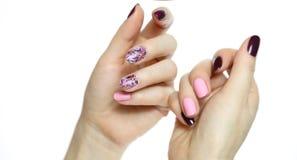 Przybija sztuka manicure zdjęcia stock