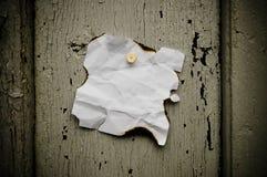 przybijający nutowy papier zdjęcie stock