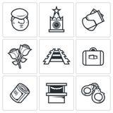 Przybysza wędrownika ikony również zwrócić corel ilustracji wektora royalty ilustracja