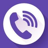 Przybywająca rozmowa telefonicza wektoru ikona ilustracji