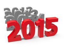 2015 przychodzący Obrazy Stock