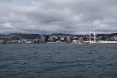 Przychodzić Wellington łodzią nowe Zelandii zdjęcie royalty free