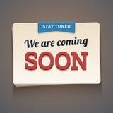 Przychodzić wkrótce wiadomość. Zdjęcie Stock