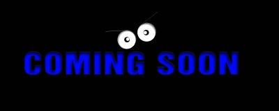 Przychodzić wkrótce wiadomość Zdjęcie Stock