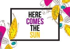 przychodzi tu słońce Fotografia Stock