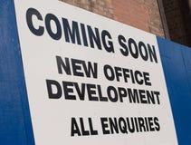 Przychodzić wkrótce biurowego rozwój Obraz Stock