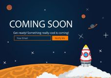 Przychodzić Wkrótce strona internetowa szablon Obrazy Stock