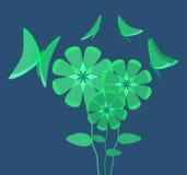 przyciągający świecącego motyla kwiat Zdjęcia Stock