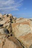 Przyciągający kształty wyspy Lavezzi na morzu Bonifacio, Południowy Corsica, Francja Obraz Stock
