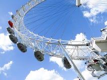 135 443 przyciągania stolicy Europe oka cieków ferris London metrów uk Thames najwięcej popularnego rzecznego wysokiego koła Zdjęcie Royalty Free