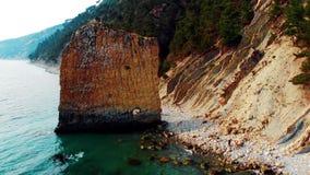 Przyciąganie Krasnodar skała «żagiel « Cudowny widok z góry zdjęcie wideo