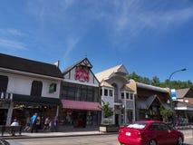 Przyciąganie na głównej ulicie w Gatlinburg wakacyjny kurort w Tennessee usa obrazy stock