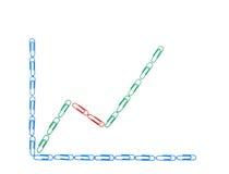 przycina diagrama ekonomicznego papier Zdjęcia Royalty Free