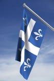 przycinanie drogę chorągwianą Quebec Obraz Stock