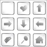 przycisk kwadratowy white wektor sieci Zdjęcia Royalty Free