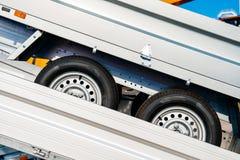 Przyczepa transport od fabryki Zdjęcia Stock