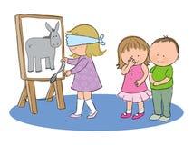 Przyczepia ogon na ośle ilustracji